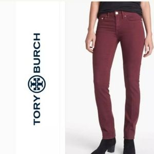 Tory Burch Ivy Jeans Super Skinny Dark PlumSize 25